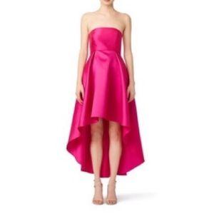 [slate & willow] fuchsia peek around gown